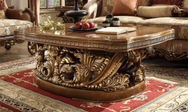Met Ant Gold & Perfect Brown Coffee Table Traditional Homey Design HD-8018