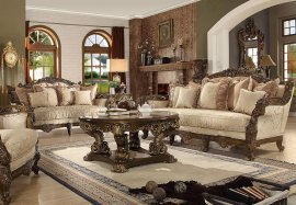 Ant Gold & Perfect Brown Sofa & Loveseat Set Traditional Homey Design HD-1609