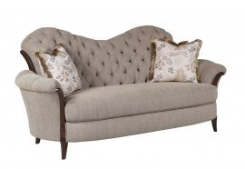 Bennetti Luxury Button Tufted Grey Chenille Sofa Elena Sofa Traditional Classic