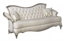 Luxury Champagne Pearl Silk Chenille Loveseat HD-90020 Classic Traditional