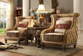 Traditional Luxury HD-458 Upholstered Accent Chairs by Homey Design