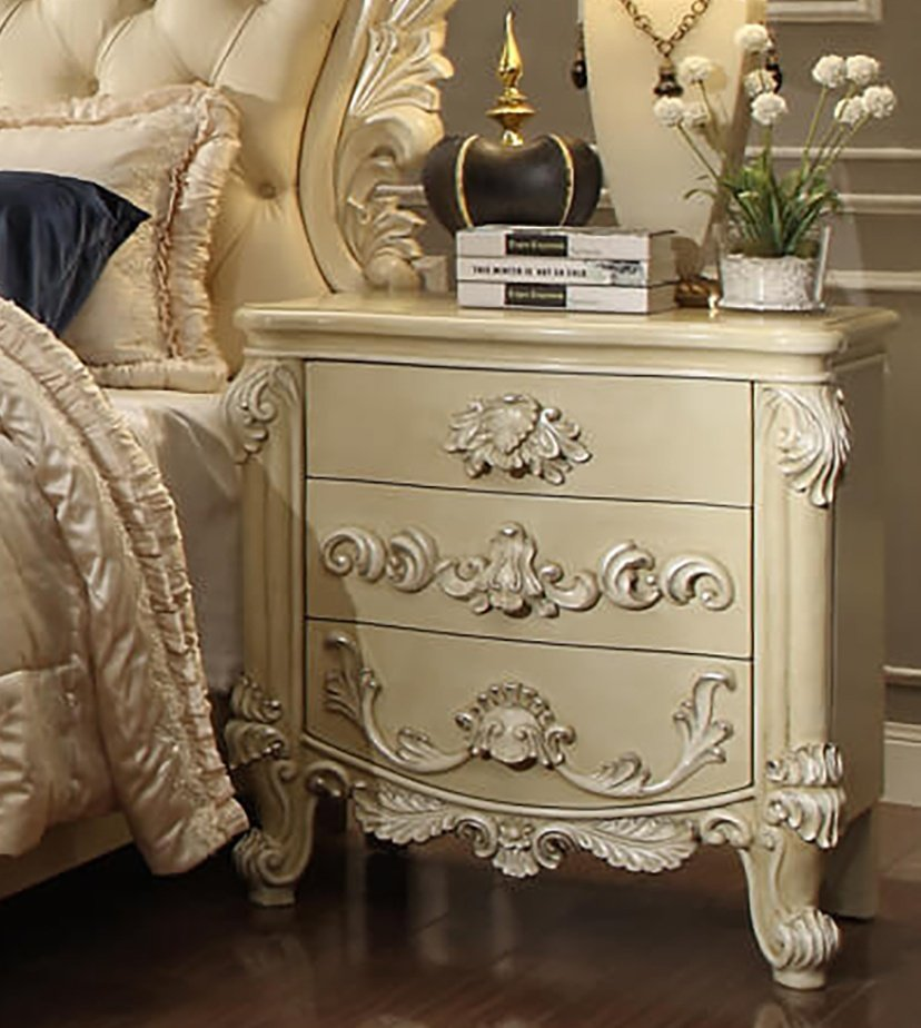 Traditional Luxury Cream HD-5800 Nightstand by Homey Design