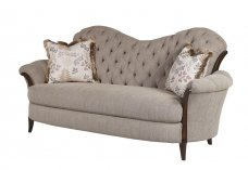 Classic, Traditional Beige Chenille and Fabric, Wood, Solid Hardwood Sofa 1 pcs Elena by Benneti