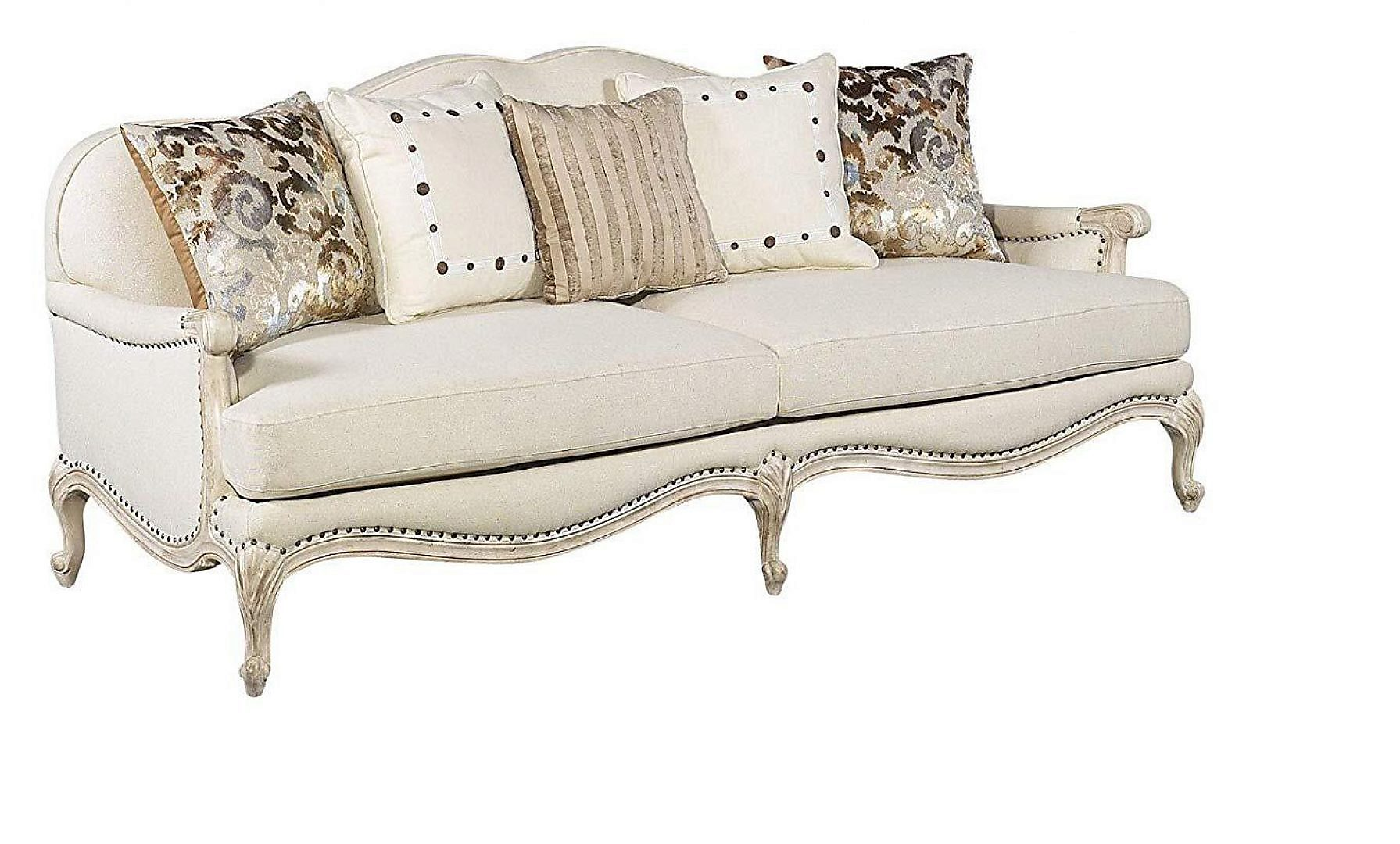 Classic, Traditional Ivory, Cream Chenille and Fabric, Wood, Solid Hardwood Sofas 1 pcs AVA    by Benneti