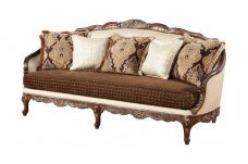 Classic, Traditional Beige Chenille and Fabric, Wood Veneers, Solid Hardwood Sofas 1 pcs CELADONA by Benneti