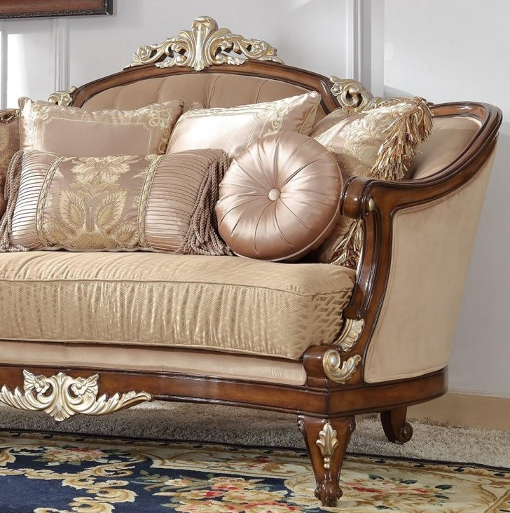 Traditional Sofa in Brown Fabric Traditional Style Homey ...