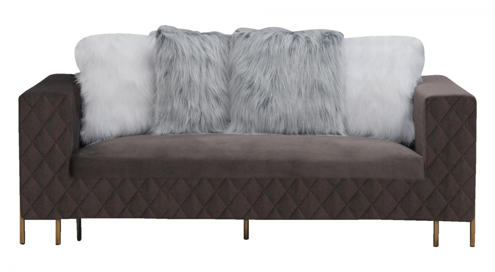 Modern Gray Fabric Sofa 1 pcs Cosmos Furniture Madison-Sofa