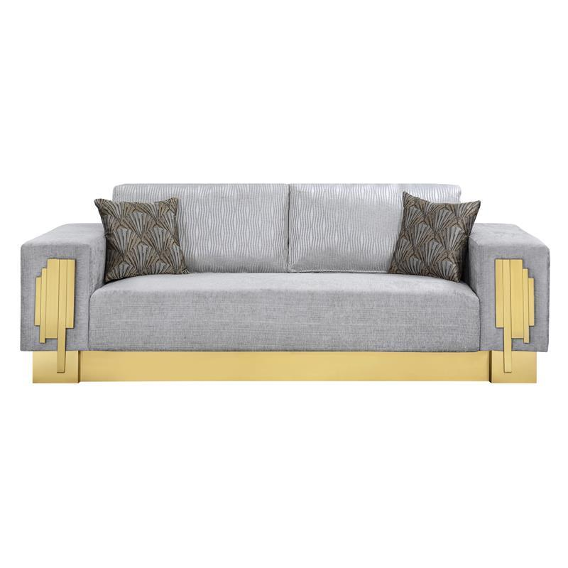 Modern Gray Fabric Sofa 1 pcs Cosmos Furniture Megan-Sofa