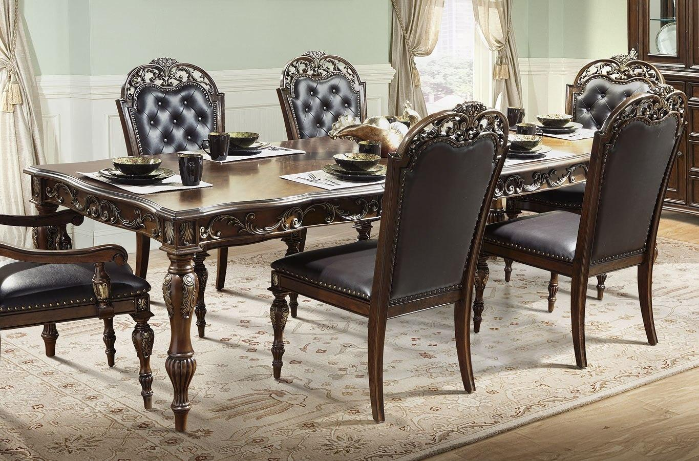 Traditional Cherry  Dining Table 1 pcs Cosmos Furniture 2021CHROS