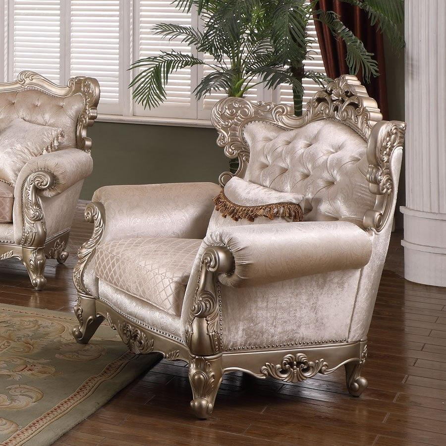 Transitional Beige Fabric Arm Chairs 1 pcs Cosmos Furniture 3037SIEMI