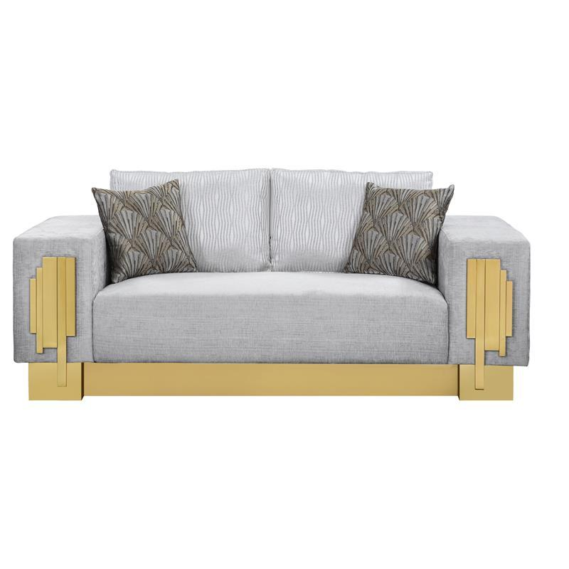Modern Gray Fabric Loveseat 1 pcs Cosmos Furniture 3036GYMEG