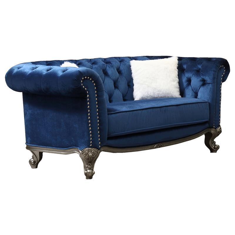 Transitional Blue Fabric Loveseat 1 pcs Cosmos Furniture 3036BLMIA