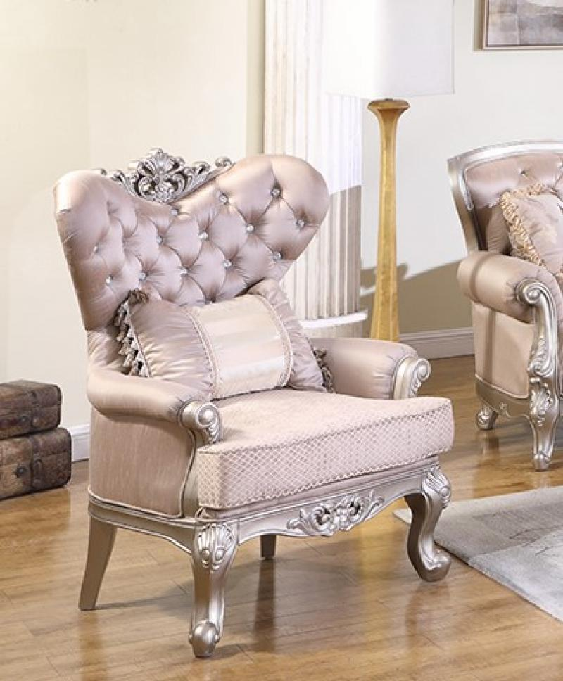 Traditional Cream Fabric Arm Chairs 1 pcs Cosmos Furniture Daisy-Armchair