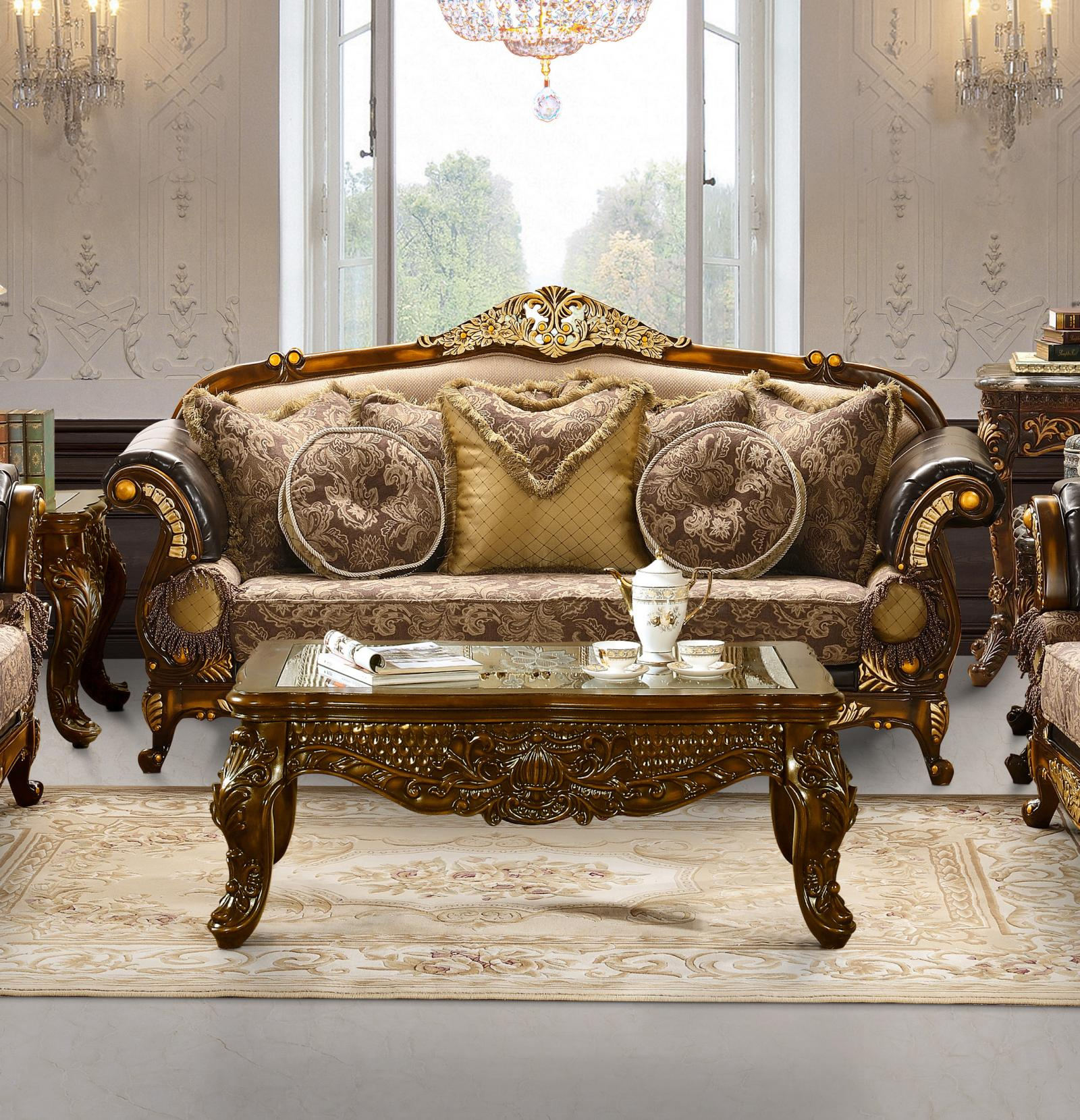 Traditional Victorian Royal HD-26 Sofa in Espresso by Homey Design