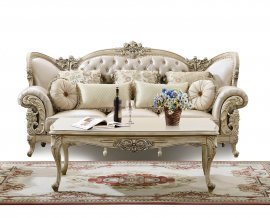 Traditional Antique Pearl HD-32 Loveseat by Homey Design