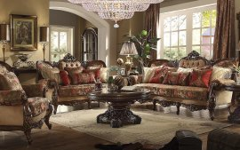 Traditional HD-39 Sofa Loveseat Chair and Coffee Table 4Pcs by Homey Design