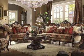 Traditional HD-39 Sofa Loveseat and Coffee Table Set 3Pcs by Homey Design