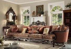 Traditional Luxury HD-111 Sectional Sofa in Brown by Homey Design