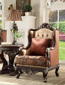 Traditional Luxury Royal HD-111 Chair in Brown by Homey Design