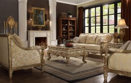 Traditional Antique Hd-205 Sofa and Loveseat Set 2Pcs by Homey Design