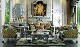 Traditional Carved Hd-272 Sofa Loveseat and Chair Set by Homey Design