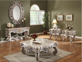 Traditional Hd-272 Coffee Table End Table Entrance Table Mirror 4Pcs by Homey Design