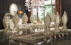 Traditional Elegant HD-13012 Dining Table Set 9 Pcs by Homey Design