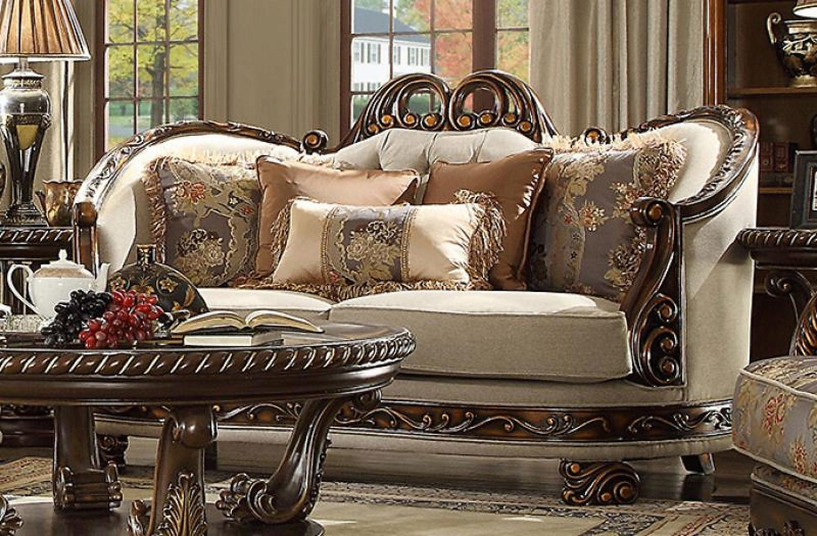 Traditional Luxurious Royal Hd-1623 Sofa in Beige by Homey Design