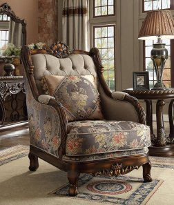 Traditional Luxurious Royal Hd-1623 Chair in Beige by Homey Design
