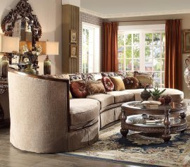 Traditional HD-1627 Sectional Sofa and Coffee Table Living Room Set 2Pcs by Homey Design