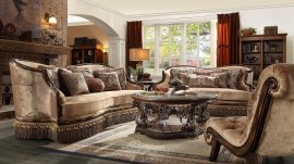 Traditional HD-1631 Sofa Loveseat Chair and Coffee Table by Homey Design