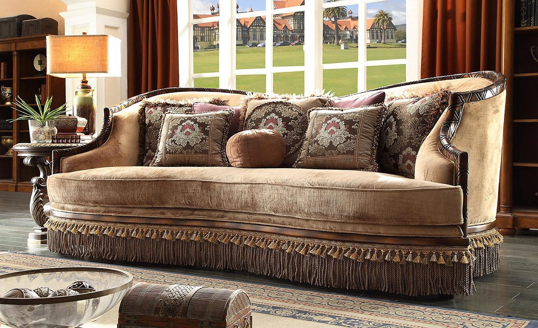 Traditional Luxury HD-1631 Sofa Chair Coffee Table by Homey Design