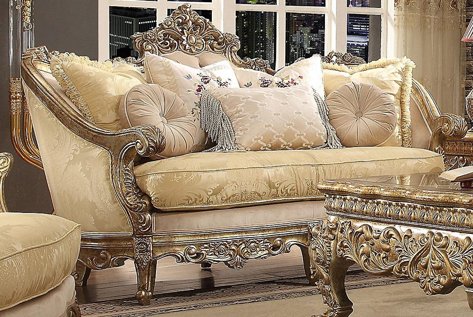 Traditional HD-2626 Sofa Loveseat and Chair Set 3Pcs by Homey Design