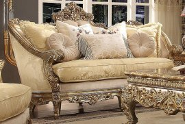 Traditional Luxury HD-2626 Sofa in Champagne by Homey Design