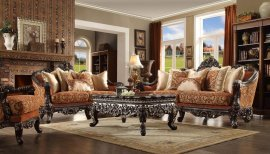 Traditional HD-2627 Sofa Loveseat Chair Coffee Table 4Pcs by Homey Design