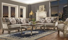 Traditional HD-303 Sofa Loveseat and Coffee Table Set 3Pcs by Homey Design