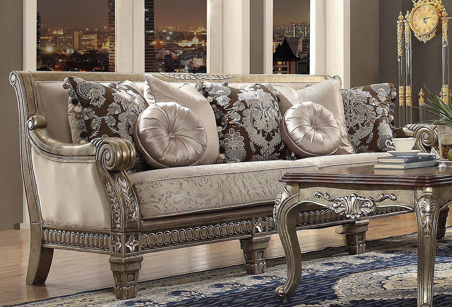 Traditional Luxury Pearl HD-303 Sofa by Homey Design