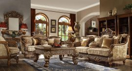 Traditional HD-610 Sofa Loveseat Chair Coffee Table End Table 5Pcs by Homey Design