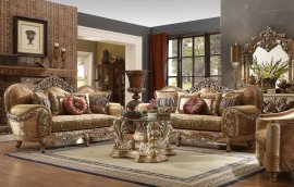 Traditional HD-622 Sofa Loveseat Chair and Coffee Table 4Pcs by Homey Design