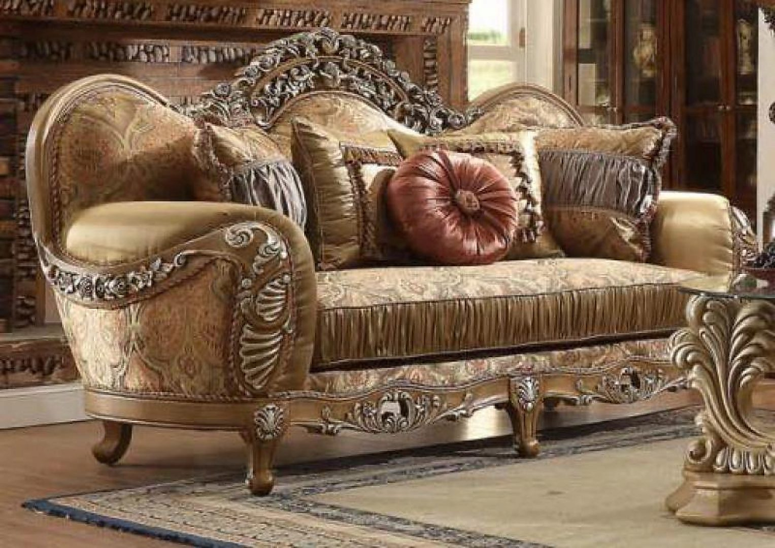 Traditional HD-622 Sofa Loveseat and Chair Set 3Pcs by Homey Design
