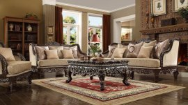 Traditional HD-914 Sofa Loveseat Chair Coffee Table 4Pcs by Homey Design