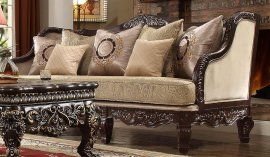 Traditional Luxury HD-914 Loveseat in Cappuccino by Homey Design