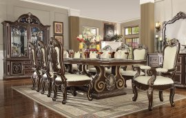 Traditional Classic HD-8013 Dining Table Set 7 Pcs by Homey Design