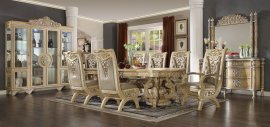 Traditional Classic HD-8015 Dining Table Set 10 Pcs by Homey Design
