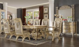 Traditional Classic HD-8015 Dining Table Set 7 Pcs by Homey Design