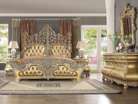 Traditional HD-8016 Gilded Eastern King Bedroom Set 5 Pcs by Homey Design