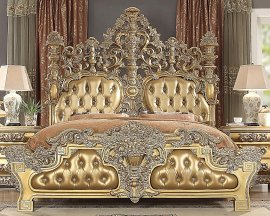 Traditional Royal HD-8016 Gilded King Bed by Homey Design