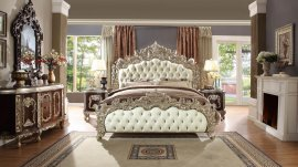 Traditional HD-8017 California King Bedroom Set 5 Pcs in Antique White by Homey Design