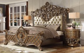 Traditional HD-8018 California King Bedroom Set 2 Pcs in Beige by Homey Design
