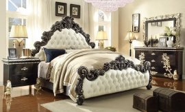 Traditional HD-1208 Queen Bedroom Set 4Pcs in White by Homey Design